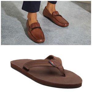 Aldo Shoes - Bundle Men's Shoes Aldo Loafers + Rainbow Sandals